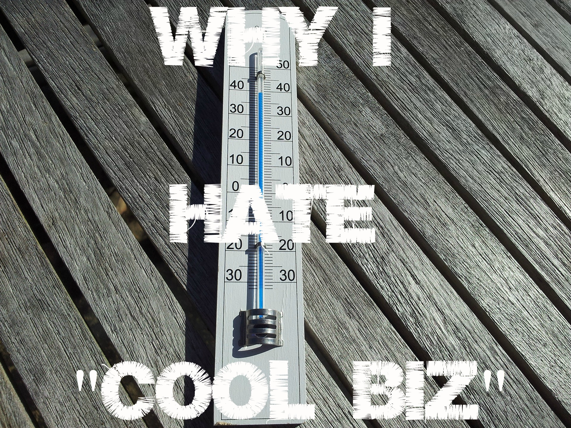 "Why I Hate ""Cool Biz"""